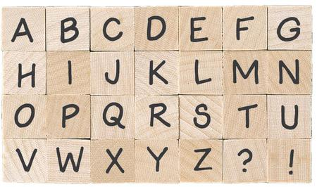 WoodBlock Alphabet